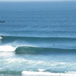 Perfect lefts just for us/ Niky on the wave :)